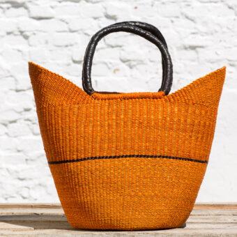 Bolga indkøbskurv - orange