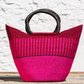Bolga indkøbskurv - pink