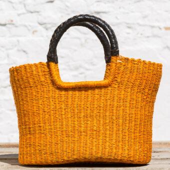 Bolga indkøbskurv - gul