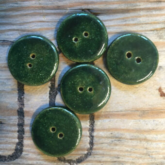 keramik knap flaskegrøn