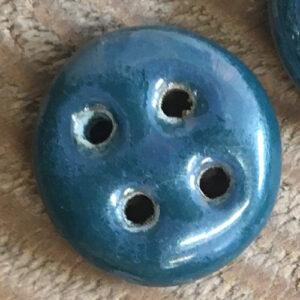 keramik knap mørk aqua detalje