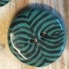 keramik knap petrol sort detalje